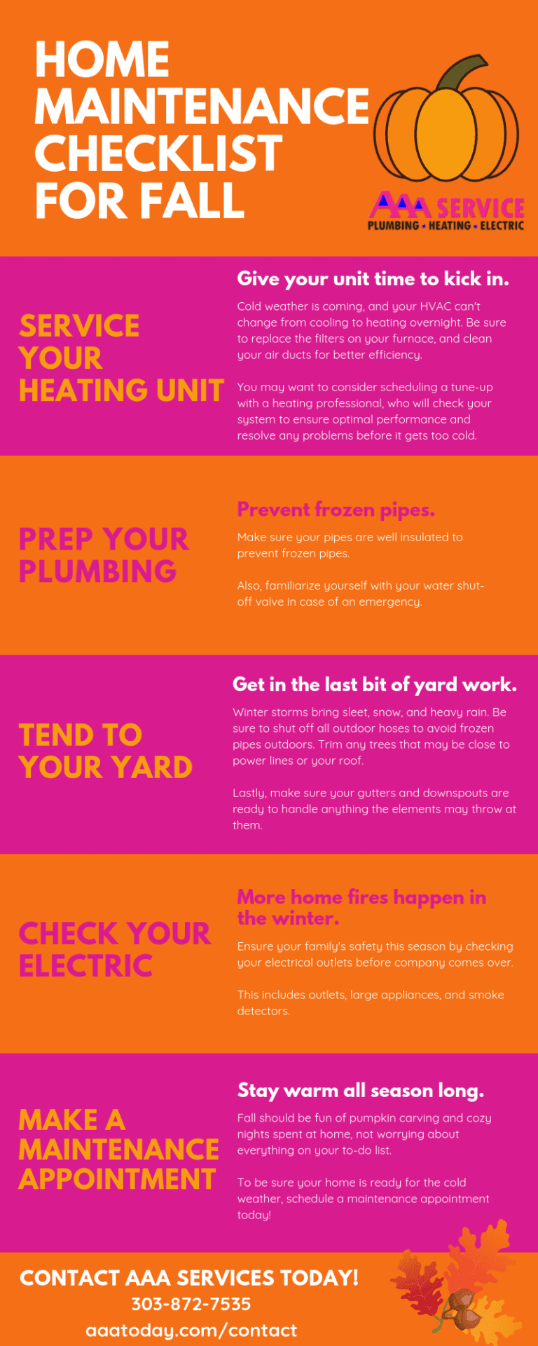 Home Maintenance Fall Checklist Infographic